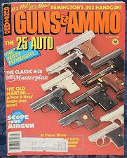 Vintage Magazine GUNS & AMMO July 1986 !! BROWNING Buck Mark .22 LR PISTOL !!