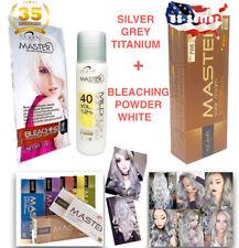 Hair Grey Titanium Silver Permanent Smoke Dye White Clear Bleaching Powder Cream