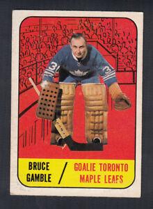 1967-68 TOPPS HOCKEY CARD #18 B. GAMBLE