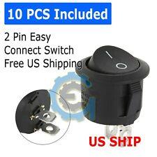 10pcs Round Rocker Switch Onoff Toggle Round Button Boat Car Auto Switch 12v Us
