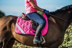 Hi Vis Viz High Visibility Reflective Fluorescent Horse Saddle Pad  All Sizes