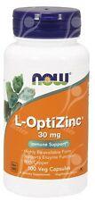 Now Foods L-Opti Zinc OptiZinc 30mg x100cap with Copper