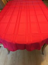 Nice Red Tablecloth Rounded Corners And 7 Matching Napkins