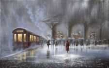 Modern Home Art Wall Decor  Lovers In The Rain Oil Painting Printed On Canvas