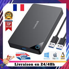 """InateckFE2013 USB 3.0/SATA III Boîtier de Disque Dur 2,5"""" avec Commutateur Intelligent - Noir"""