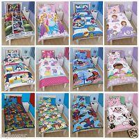 Disney Character Single Duvet Cover Set Kids Childrens Bedding Cars,Peppa Frozen