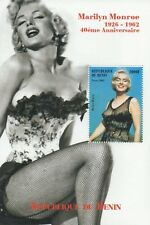 MARILYN MONROE 2002 REPUBLIQUE DU BENIN MNH STAMP SHEETLET