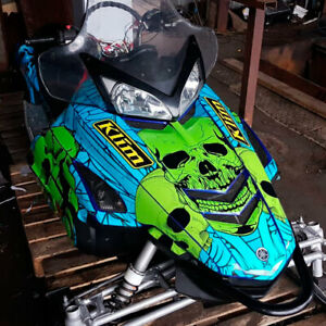 Snowmobile decal wrap Graphic Template for YAMAHA RX1