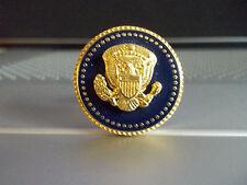 PRESIDENTIAL LAPEL PIN PRESIDENT BARAK OBAMA BLUE COBALT 24 K GOLD-PLATED