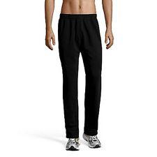 REEBOK black trousers pants pantaloni felpa tuta nero uomo L fitness sport BNWT