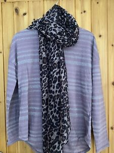 Next Ladies Top,and Scarf Size 14 Light Mauve