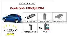 KIT TAGLIANDO FIAT GRANDE PUNTO 1.3 MULTIJET FILTRI + OLIO TOTAL CLASSIC 5W40