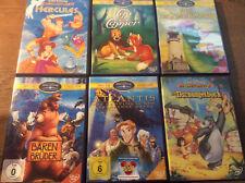 Walt Disney [6 DVD]Dschungelbuch Atlantis Bärenbrüder Elliot Cap Capper Hercules