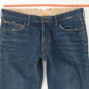 Homme HUGO BOSS ORANGE 25 Regular Straight Bleu Jeans W36 L36