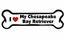 Imagine This Bone Car Magnet, I Love My Chesapeake Bay Retriever, 2-In by 7-In