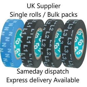 L1 L2 L3 N Electrical Phase Marking Tape 3-phase Wiring Printed or Colour coded