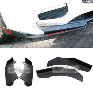 Canard Front/Rear Cup wing Body Kit Matte Black for CHEVROLET 17-18 Malibu 2.0L
