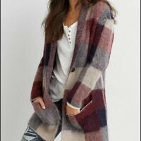 American Eagle Outfitters Women's Size XS/S Multicolor Fuzzy Warm Plaid Cardigan