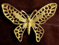 Vintage Sarah Coventry Madame Butterfly Brooch Pin Silvertone