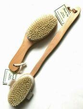 2 Brushes Natural Boar Bristle Wooden Bath Shower Body Back Dry Skin Bath Brush