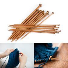 36Pcs 18 sizes Single Pointed Carbonized Bamboo Knitting Needles Crochet Set USA