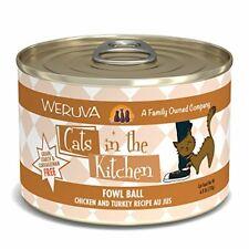 Weruva Cats In The Kitchen, Fowl Ball With Chicken Turkey Au Jus Cat Food,