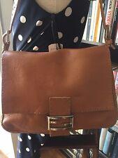 Fendi Selleria Mama Baguette numbered series camel leather shoulder/handbag