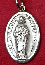 Vintage Sterling St Paul VI Blessed Portugal Fatima Pilgrimage Saint JUDE Medal