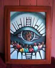 "FRAMED PAINTING: ""THE EYE"" BY NIGERIAN ARTIST CHIDI ENYOBI"