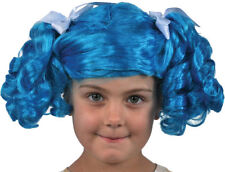 Morris Costumes Lalaloopsy Children Blue White Wig. XS12387
