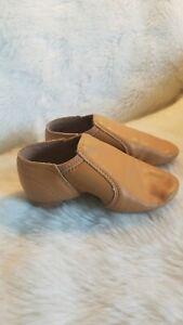 Alexandra Collection Tan Jazz Hip Hop Dance Slip-On Shoes Youth Girls SZ11  D