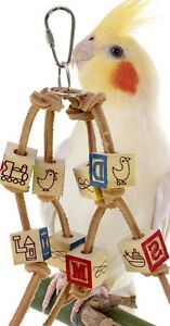 1879 ABC Block Small Bird Toy parrot cage toys cages cockatiel budgie lovebird