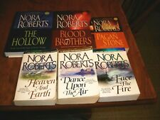 LOT OF 2 NORA ROBERTS TRILOGYS THREE SISTERS + THE SIGN OF SEVEN 6 BOOKS