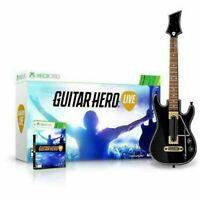 NEW Microsoft XBOX 360 Guitar Hero Live Game & Guitar Bundle
