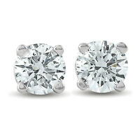 .33Ct Round Brilliant Cut Natural Diamond Stud Earrings in 14K Gold Classic