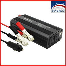 1000W Car Power Inverter DC 12V To AC 110V 2 AC Outlets RV Solar Power Converter