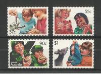 AUSTRALIA 1987 AUSSIE KIDS SG,1086-1089 U/MM N/H LOT 1840A