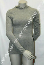 Ladies Marks and Spencer Grey Hooded Heatgen Thermal Long Sleeve Top Size 14