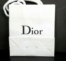 Small Classic DIOR White Textured Paper Gift Bag new 5 x 6 x 2.5