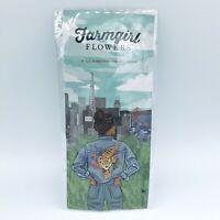 BRAND NEW Farmgirl Flowers Gold Tone / Orange Tiger Art Enamel Pin Brooch