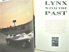 REVUE FAST LANE 11 1987 : répliques : JAGUAR D LYNX/ FERRARI P4 KITDEAL/ TVR