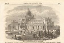1861 ANTIQUE PRINT- NETHERLANDS. PALACE OF INDUSTRY, AMSTERDAM