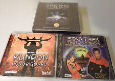 STAR TREK LOT PC STAR TREK GAME SHOW -  ENCYCLOPEDIA - KLINGON HONOR GUARD !!!