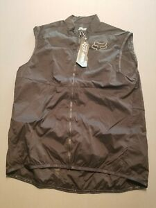 New/Unused - Fox Racing Mountain Bike Dawn Patrol Wind Vest Black XL