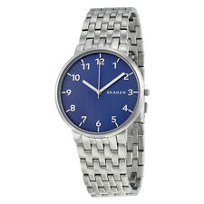 Skagen Ancher Blue Dial Stainless Steel Mens Watch SKW6201