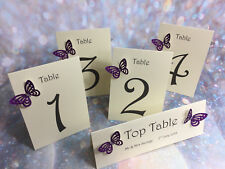 Diamante Glitter Butterfly Wedding Table Numbers **27 colours**