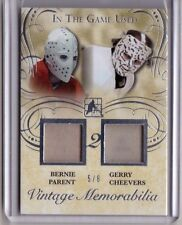 BERNIE PARENT GERRY CHEEVERS 15/16 Leaf In The Game Used Jersey Patch #5/8 RARE