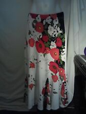 Chico Loco Ladies Skirt in a White Green Red and Black Floral Print Size 12