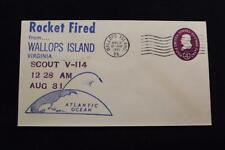 SPACE COVER 1962 MACHINE CANCEL 2ND SCOUT RE-ENTRY TEST SCOUT V-114 (5164)