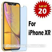 LOT of 20 - Premium Tempered Glass Film Screen Protector for iPhone XR